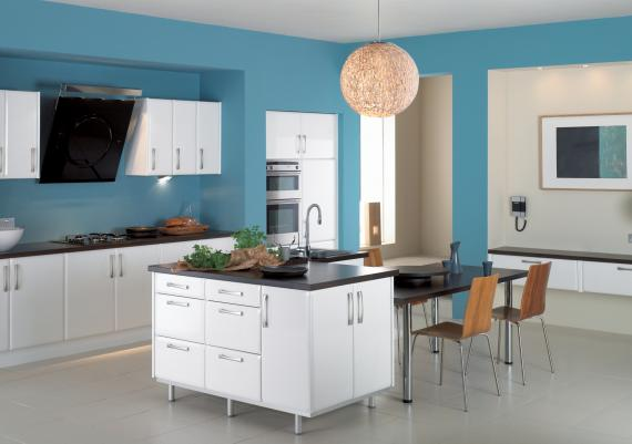Blue Paint Color Selection For Modern Kitchen Ideas Kitchen