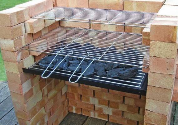 Built Your Own Brick BBQ And Warming Grill