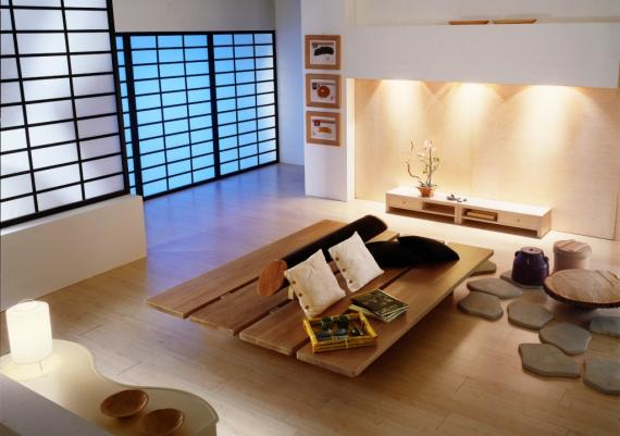 Captivating Japanese Themed Zen Living Room