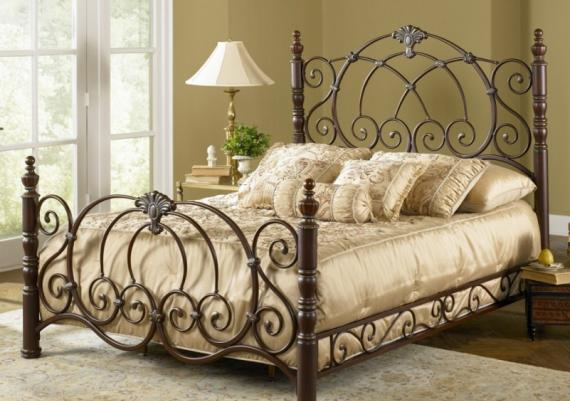 Classic Brown Metal Beadboard For Impressive Bedroom