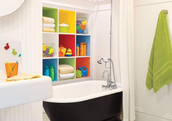 Colorful Good Idea For Kids Bathroom Design