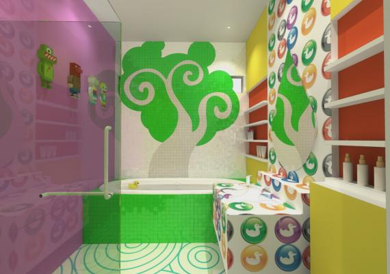 Colorful Kids Bathroom Design Ideas
