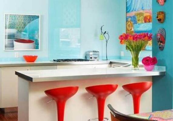 Colorful Kitchen Cabinet Ideas For Small Kitchens