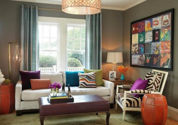 Colorful Living Room Ideas Using Colorful Painting