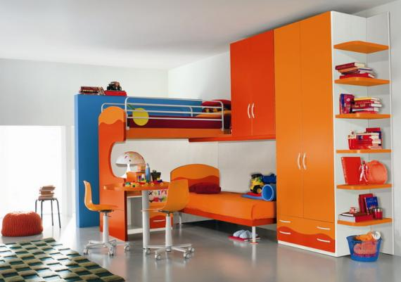 Entertaining Modern Kids Room Design Picture