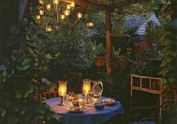 Dreaming Outdoor Lighting Dining Table