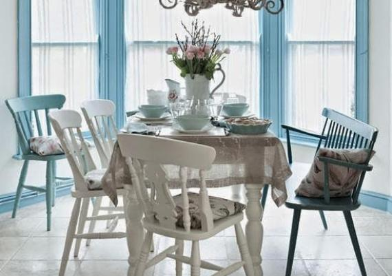 Fabulous And Romantic Blue Dining Room