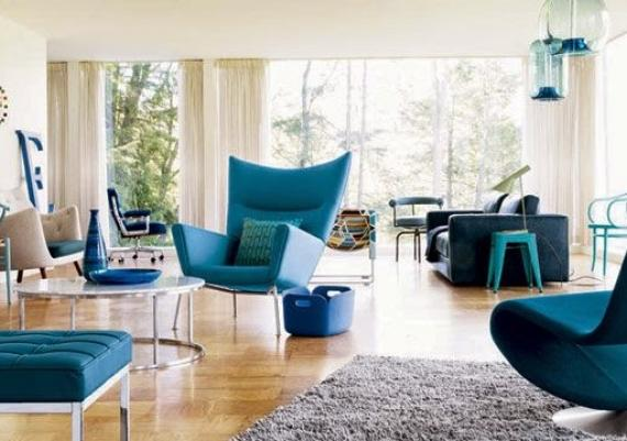 Fabulous Modern Blue Living Room For Your Home