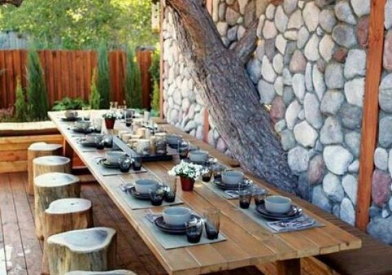 Fabulous Outdoor Dinning Table Idea