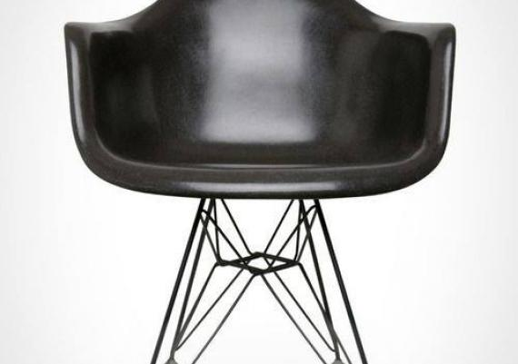 Fiberglass Black Swivel Shell Chair