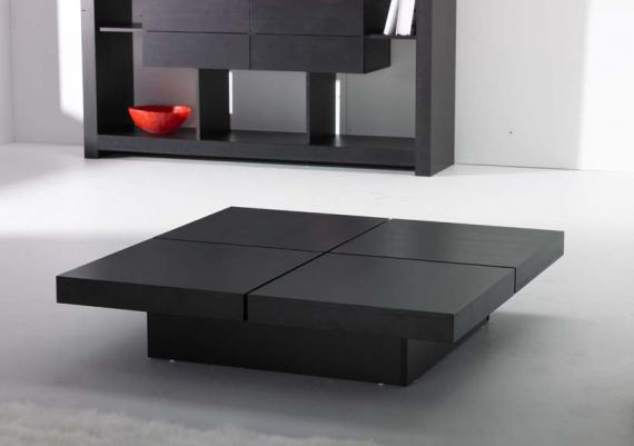 Modern Black Four CubesCoffee Table
