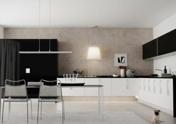 Functional Black And White Kitchen Design Ideas
