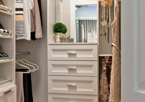 Gorgeous All White Closet Organiser For Small Spaces