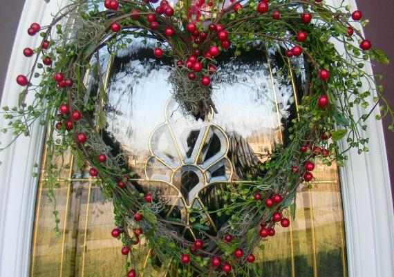 Grapevine Heart Door Wreath Decor For Valentines Day