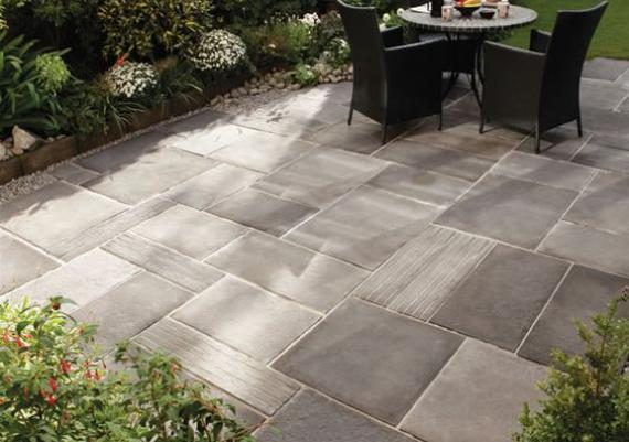 Gray Stone Patio For Your Home