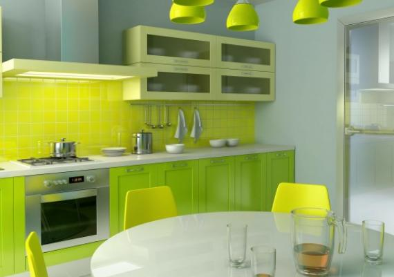 Green Lemon Modern Kitchen Best Colors Ideas