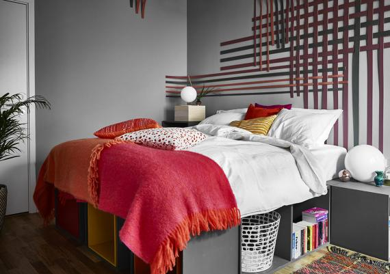 Grey And Red Accents For Your Modern Bedroom