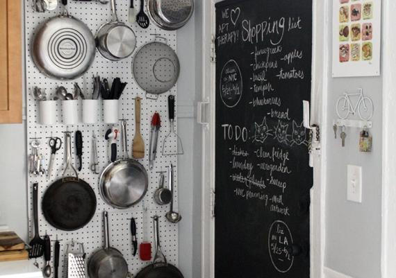 How To Hang Your Pots On Wall In Small Organized Kitchen
