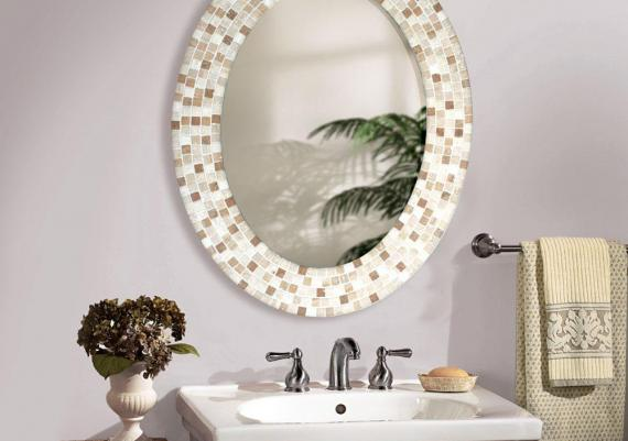 Impresionant Framed Round Mirror For Bathrooms