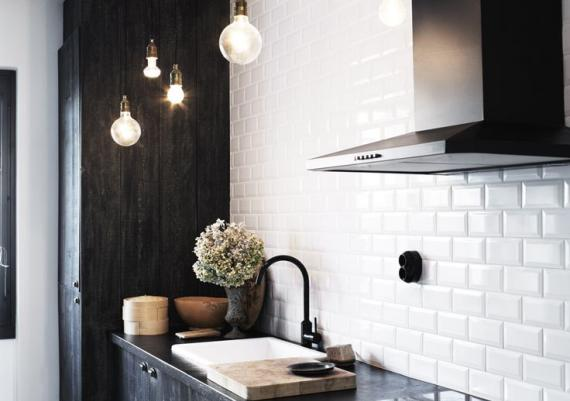 Light And Black And White Kitchen
