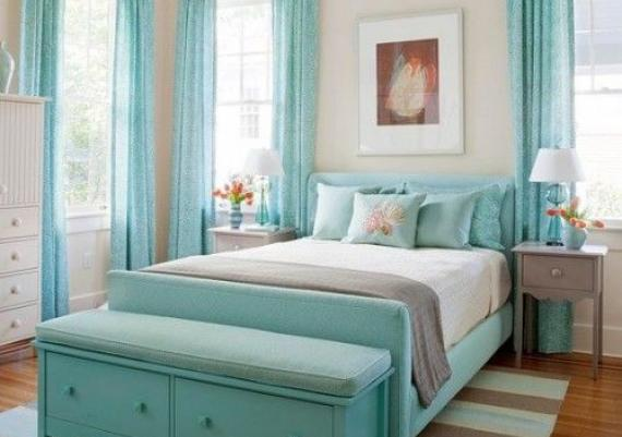 Lovely Turquoise Bedroom For Your Home