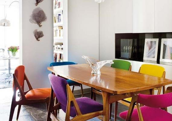 Make Your Dining Room Stand Out With Rainbow-hued Chairs