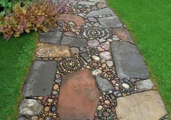 Mixed Material Mosaic For Your Backyard Patio