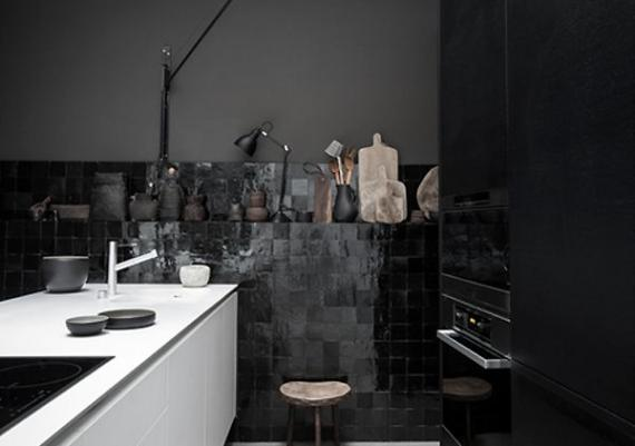 Modern Black, White And Gray Kitchen Design