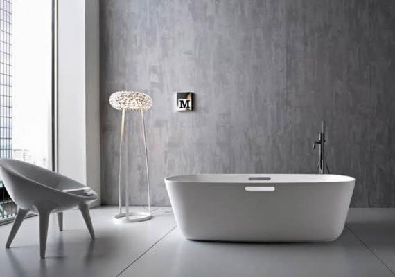 Modern Italian Bathroom Designs With Bath Tub