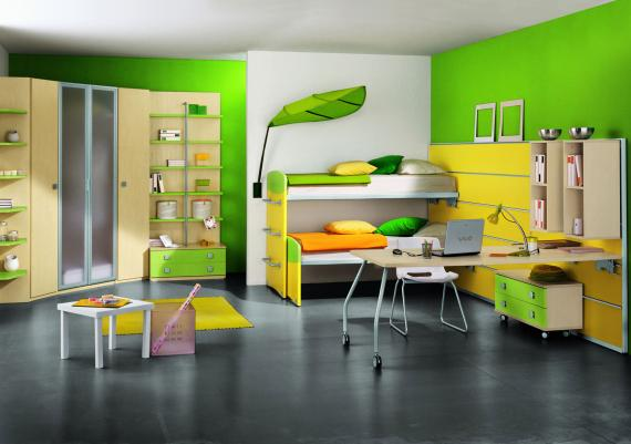 Modern Yellow And Green Kids Furiture Idea