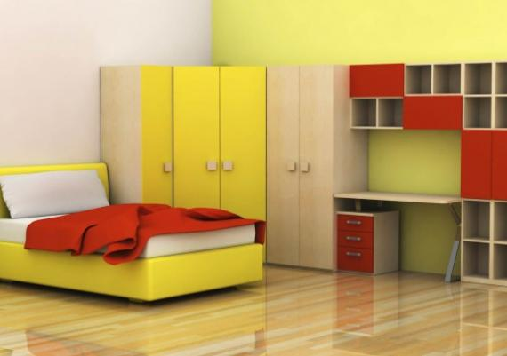 Modern Yellow And Red Green Furniture Room Idea