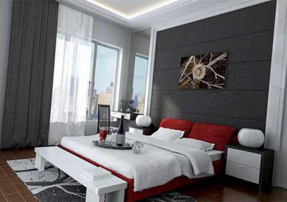 modern and calm bedroom interior design - Small Modern Bedroom Decorating Ideas