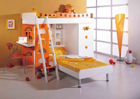 Orange And White  Modern Furniture Design Ideas
