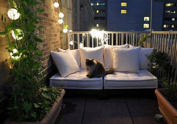 Romantic And Creative Modern Small Balcony
