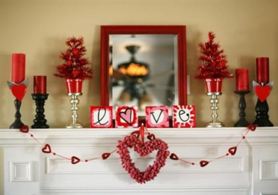 Decorating Your Fireplace For Valentine's Day With Romantic Garlands