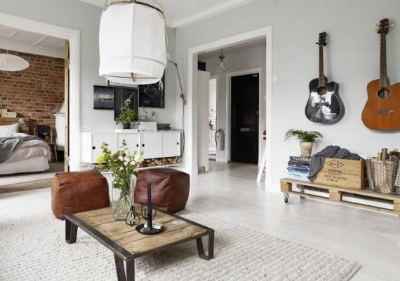 Simply Stuning Modern Living Room With Rustic Inspiration