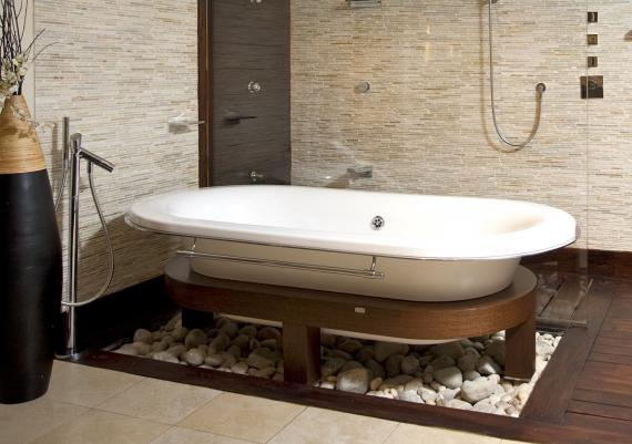 Small Bathroom With Elegant Bath Tub Ideas