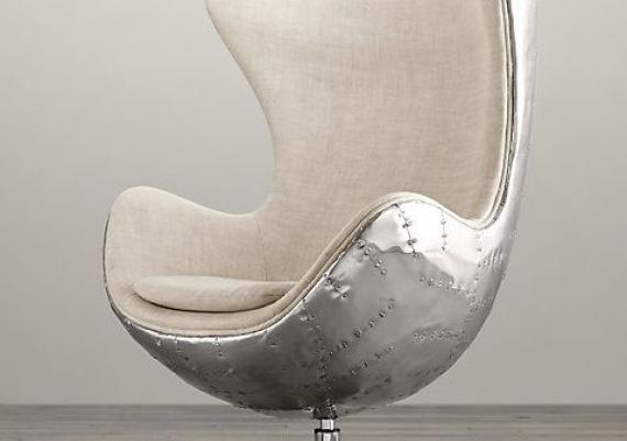 Spitfire White Aviator Egg Chair