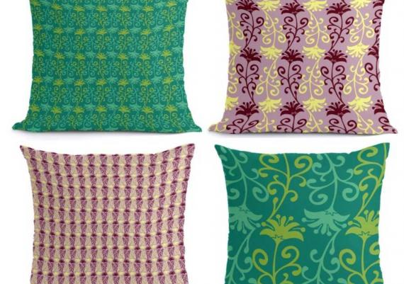 Throw Pillows with Samba Pattern Collection