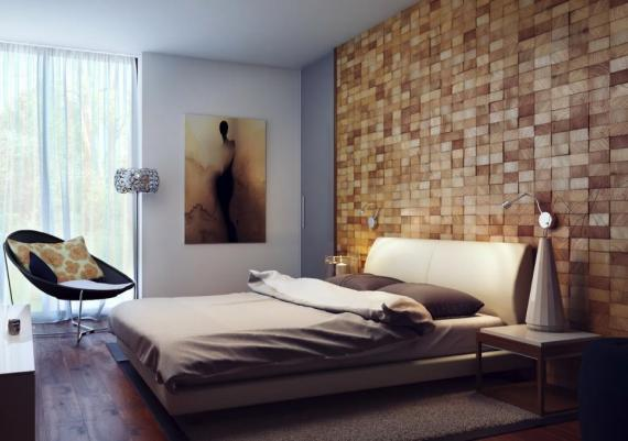 Wall Panels Headboard Design Bedroom With Wooden Materials Panels