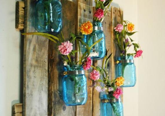 Amazing Mason Jar Wall Mounted For Your Home