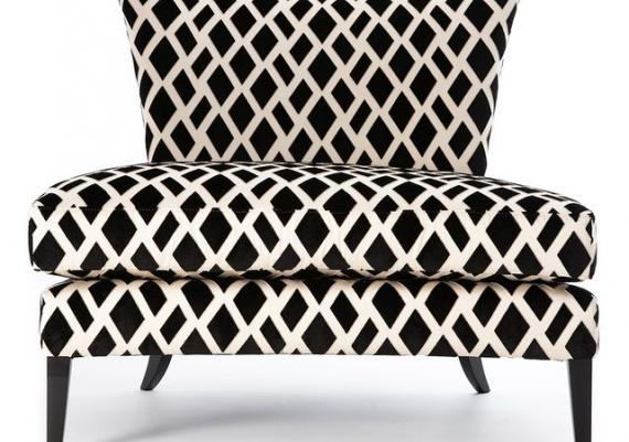 Modern Black And White Armchair Image