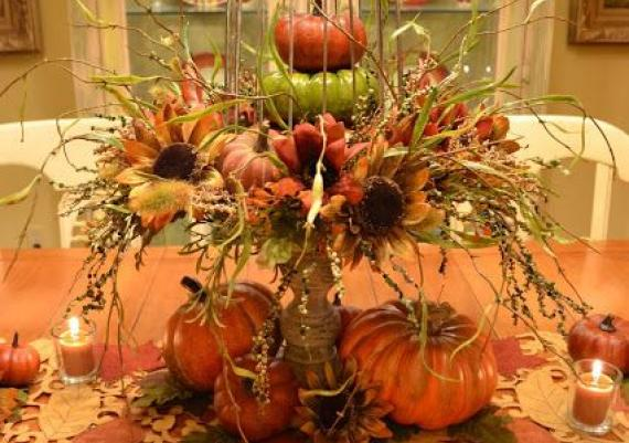 Cute Pumpkins And Birdcage Table Setting For Fall Decor And Thanksgiving