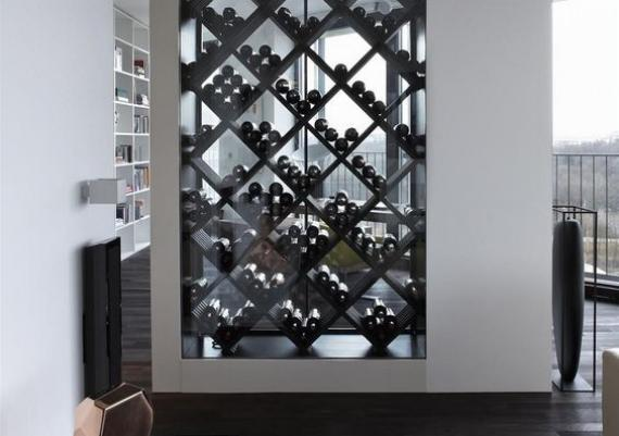 Stunning Black Wine Wall For Your Home