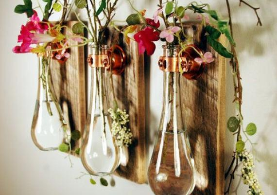 Amazing Empty Glass Wall Mounted Vase For Flowers
