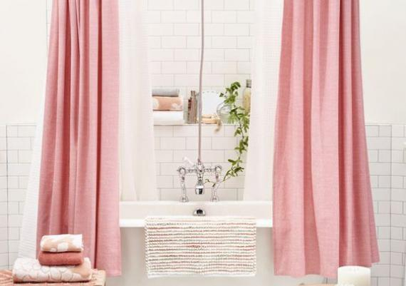 Pink Shower Curtains Home Design Ideas and Pictures