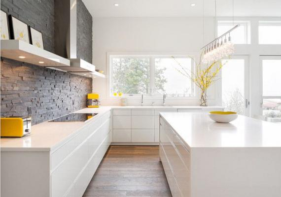 Modern White Kitchen Home Design Idea Picture