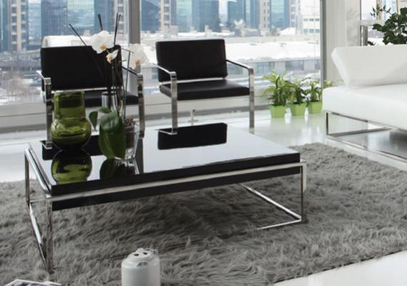 Glossy Black Modern Coffee Table
