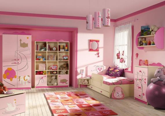 Pink Modern Kids Room Design Ideas