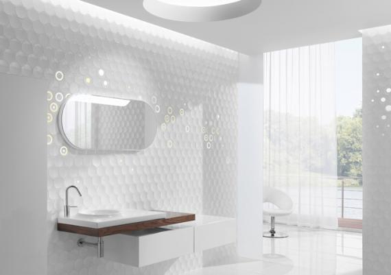 All White Wonderful Modern Bathroom